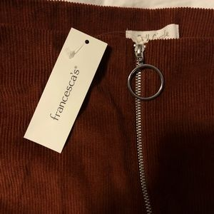 Francesca's Collections Skirts - Burnt Orange Mini Skirt (NEW)
